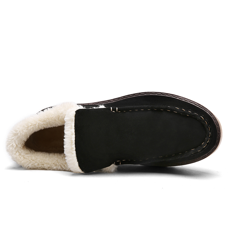 Hommes 2018 Sneakers Ocx3 yellow brown Au De Fourrure Zapatillas Nouveau Mocassins Black gray Chaud Casual Garder Sapato Air Masculino En Chaussures Neige Hiver Peluche Plein aaxERqr