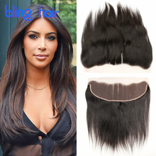 Grade 7A Brazilian Straight Frontal Closure Mink Brazilian Virgin Hair With Frontal Straight Brazilian Hair Closure Straight13x4