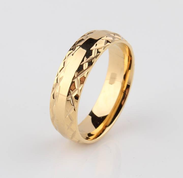 χρυσά δαχτυλίδια γαμήλια δαχτυλίδια - Κοσμήματα μόδας - Φωτογραφία 3
