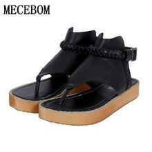 Big size Women Gladiator Sandals 2017 Designer flats Wedge Sandals Sweet Peep Toe Less Platform Summer Wedding Shoes 666W