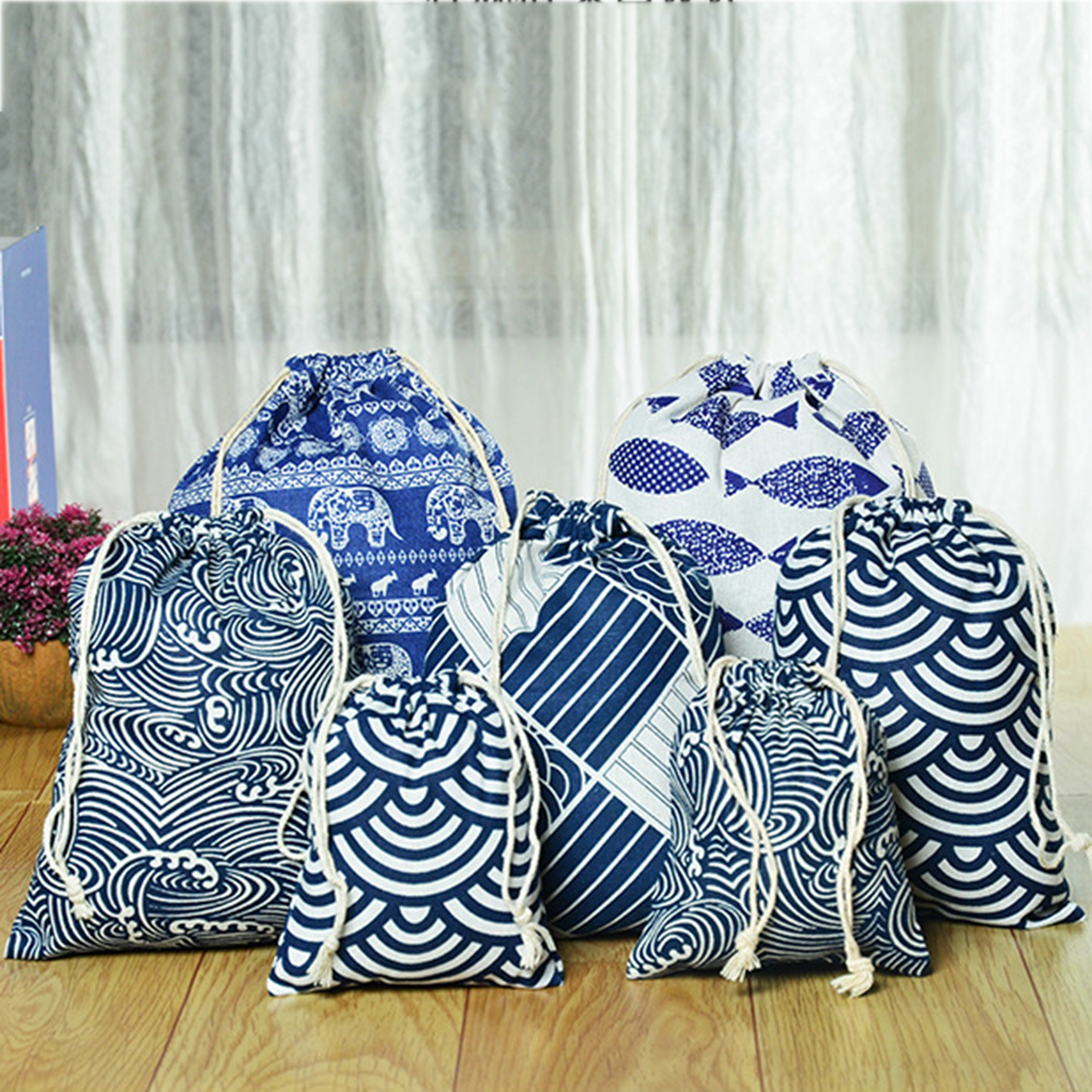 New Drawstring Cosmetic Bag Travel Luggage Makeup Bags Ladies Fabric Make Up Bath Organizer Storage Toiletry Wash Bags
