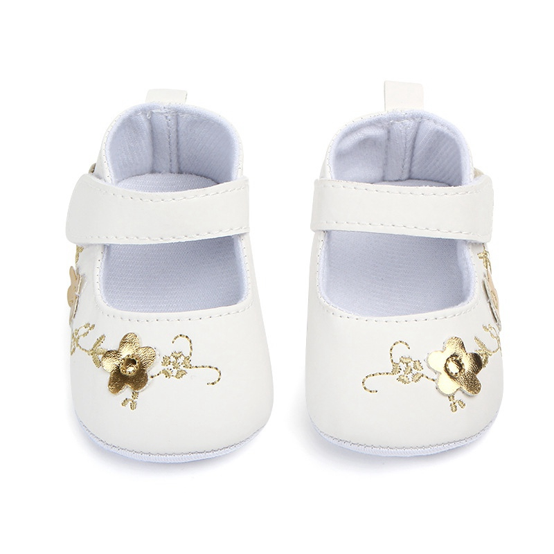 Cute Floral  Newborn Toddler First Walkering Shoes Girl Singal Crib Shoes Soft Sole Prewalker Anti-slip Baby Shoes 0-12M
