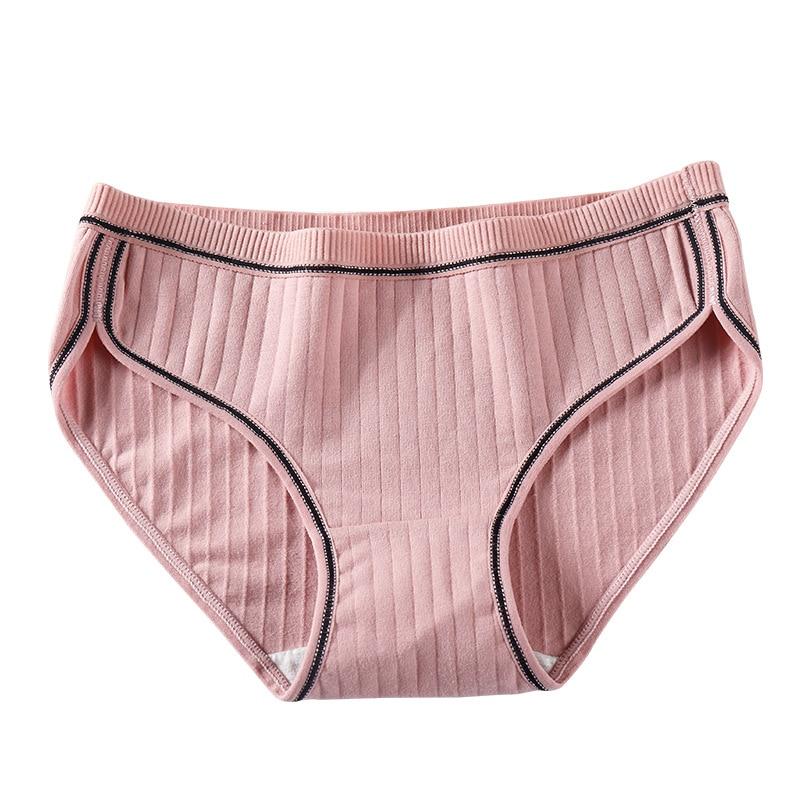 2019 New Plus size 100kg cotton Briefs women Japanese winter threaded Cute Women   Panties   Seamless Traceless lingerie Underwear