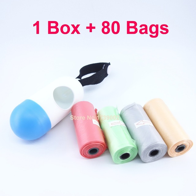 Portable Plastic Dispenser Box With 80pcs Disposable Diaper Bag Refill Bags For Baby Can Hang On