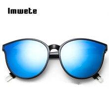 Imwete Oversize Chat lunettes de soleil Femmes Marque Designer De Mode Bleu  Sexy lunettes de soleil Mâle lunettes de soleil femm. 555e3922f0fe