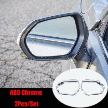 For Toyota Prius 2016 2017 ABS Chrome Car rearview mirror block rain eyebrow Cover Trim Sticker Car Styling Accessories 2pcs