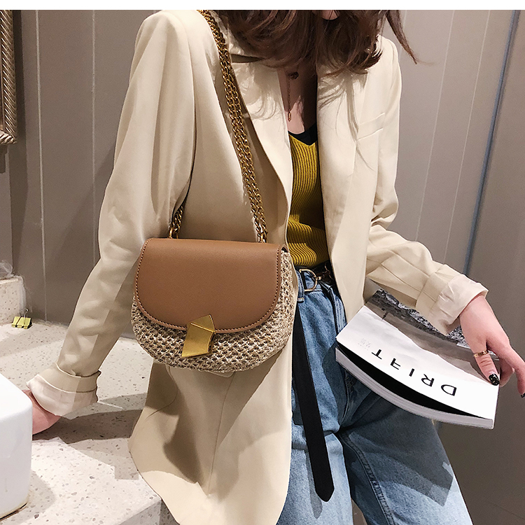 Designer Mulheres Mini Bolsa de Palha Do
