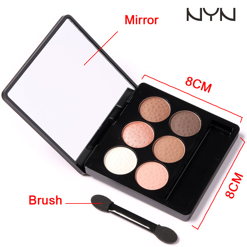NYN Waterproof Eye makeup 6 Colors Diamond Pigment Makeup Eyeshadow Pallete to Eye Kit matte Eye Shadow Beauty Sombra4