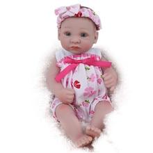 10inch Mini Bebe Reborn Realista Soft Silicone Dolls Toy 28cm Whole Body Boneca Menina Bath for Kids