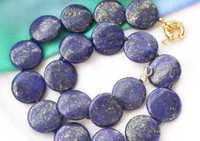 """Huij 001236 17 """"monety lapis lazuli naszyjnik perełek"""