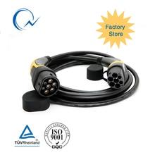 16A 32A однофазный кабель EV Тип 2 к Тип 2 IEC62196 EV зарядное гнездо с 5 метровый кабель TUV/UL Женская на обоих концах для подключения внешних устройств к EV штекер