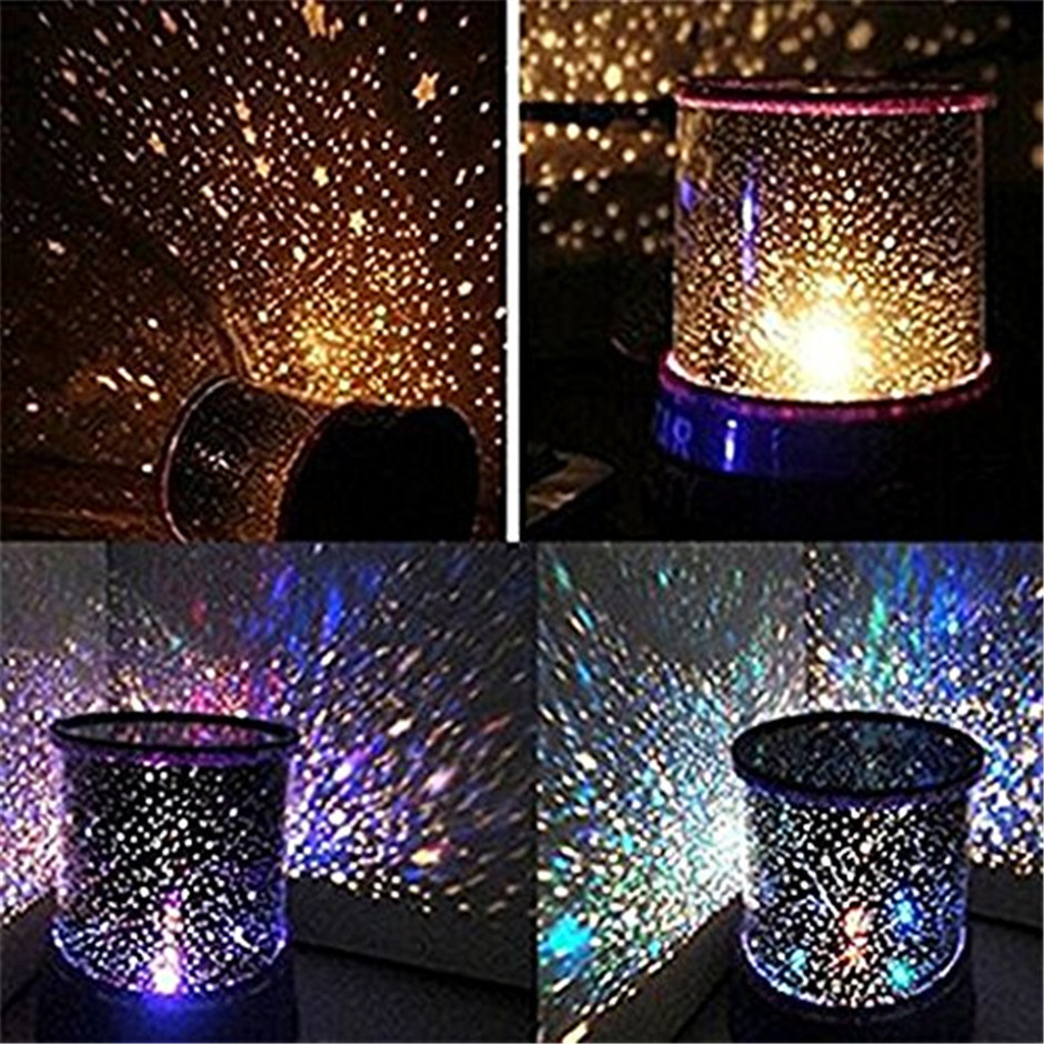 LED Night Light Projector Starry Sky Star moon Master Children Kids Baby Sleep Romantic colorful Led Projection lamp Night Light