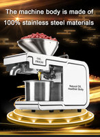 220V Heat and Cold home oil press machine pinenut, olive oil press machine high oil extraction rate