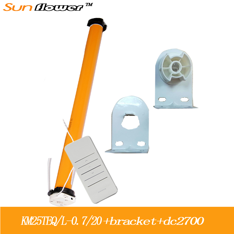 DOOYA Sunflower KM25TE  RF433  Automatic Tubular Motor kit for  Roller blind  or zebra blinds fit for 38mm tube Remote Control