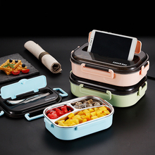GESEW Portable Compartment Insulated Lunch Box 2019 Japanese-style Office Worker Separation Microwave Heating