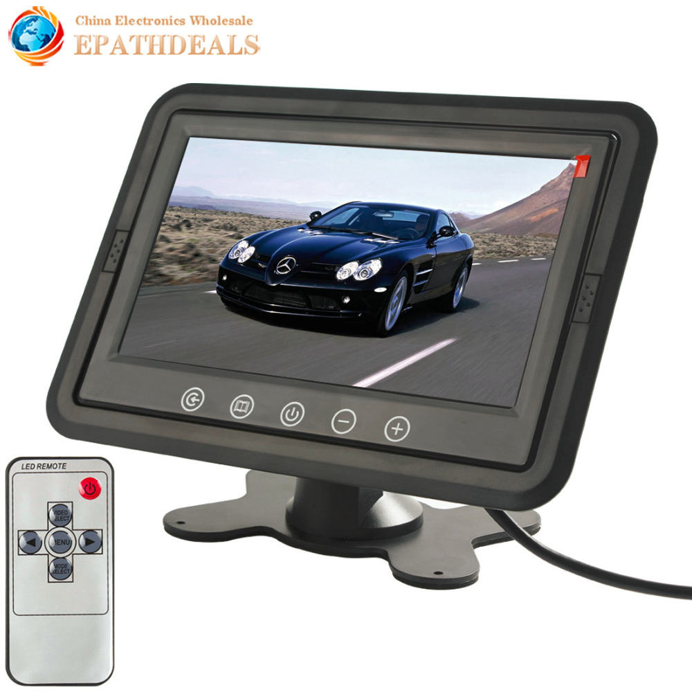 7 Inch TFT Color LCD Stand-alone Headrest Car Rear View Monitor Car Reverse Parking Monitor with 800 x 480 Resolution free shipping 120 inch 16 9 electric metallic