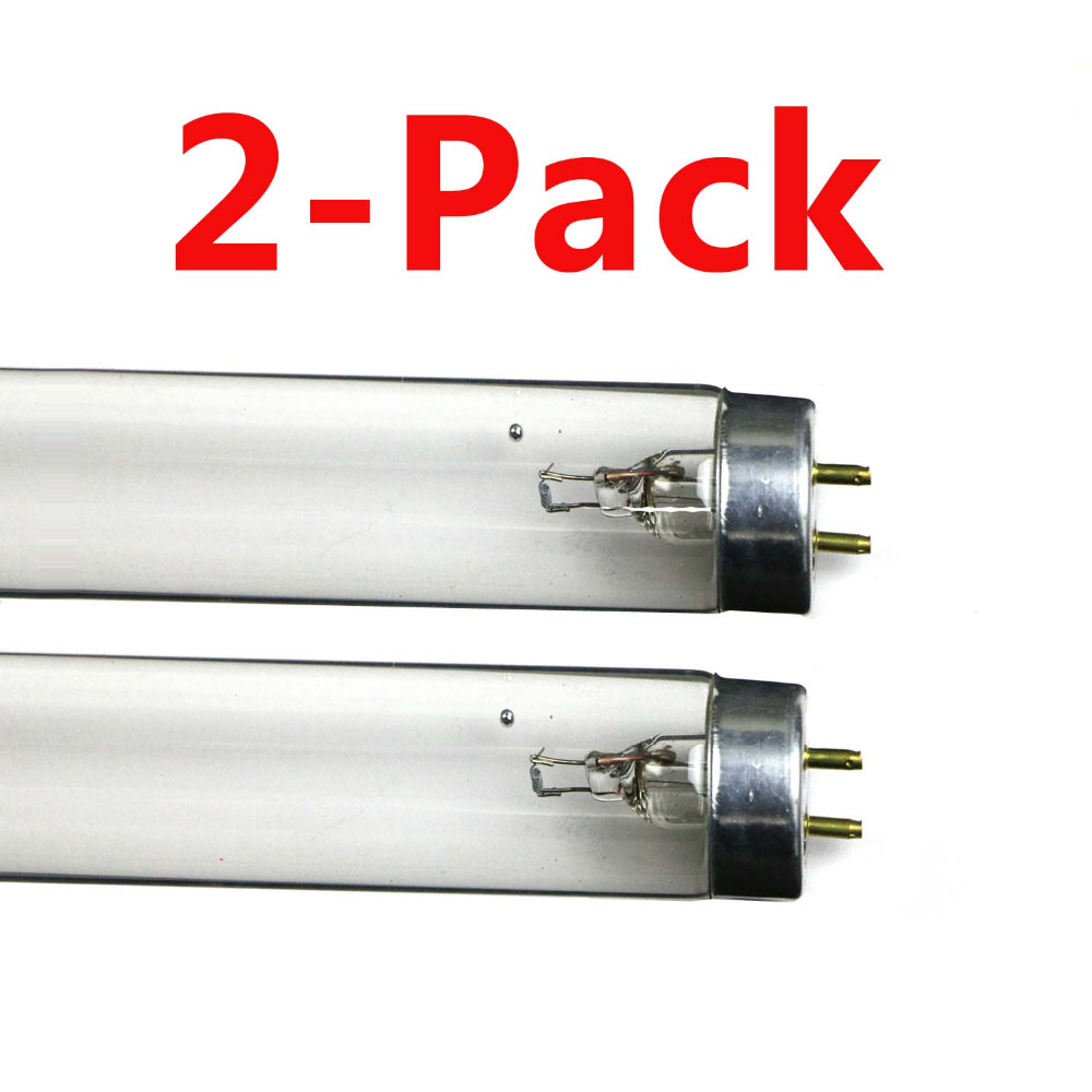 2x Quartz UV Germicidal Ultraviolet UVC Sterilizer Linear Compact Fluorescent Light Replace Tubes T8 Bi-pin G13 Base
