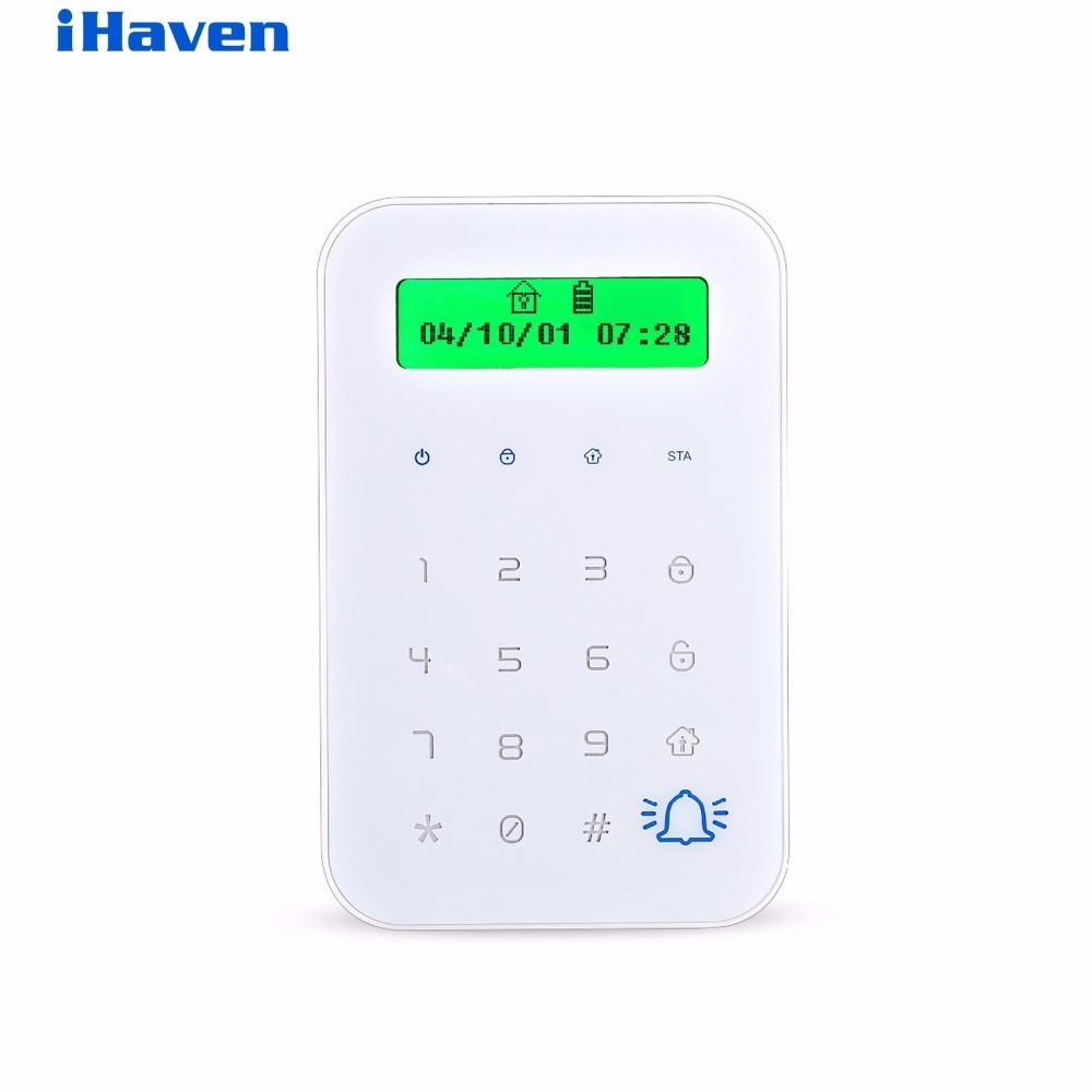 HTB-JP02  With  RFID Wireless Touch Keyboard With 2 pcs RFID tags Password Keypad For GSM Wifi Home Alarm System touch keyboard 300khz access control system number keyboard password gsm pstn home alarm rfid access control system auto lock