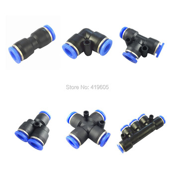 1 Piece Pneumatic fittings quick push in connector Air fittings for 4mm 6mm 8mm 10mm 12mm tube hose Straight Fittings image