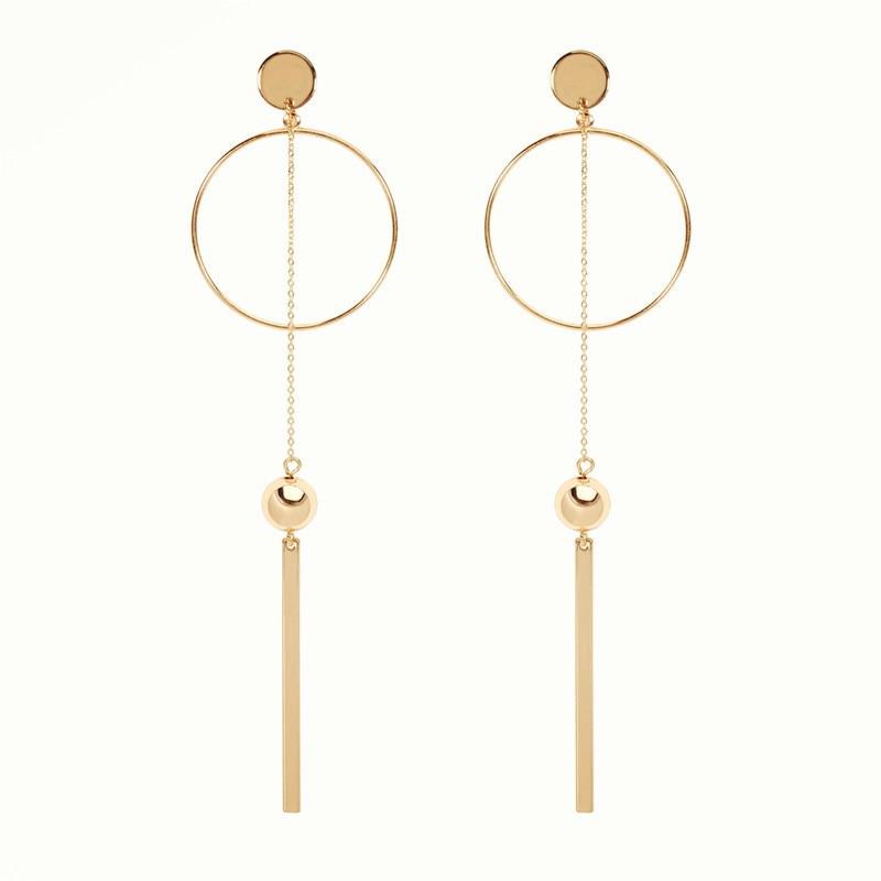 Earrings womens fashion earrings circle hot sell like cakes Long tassel