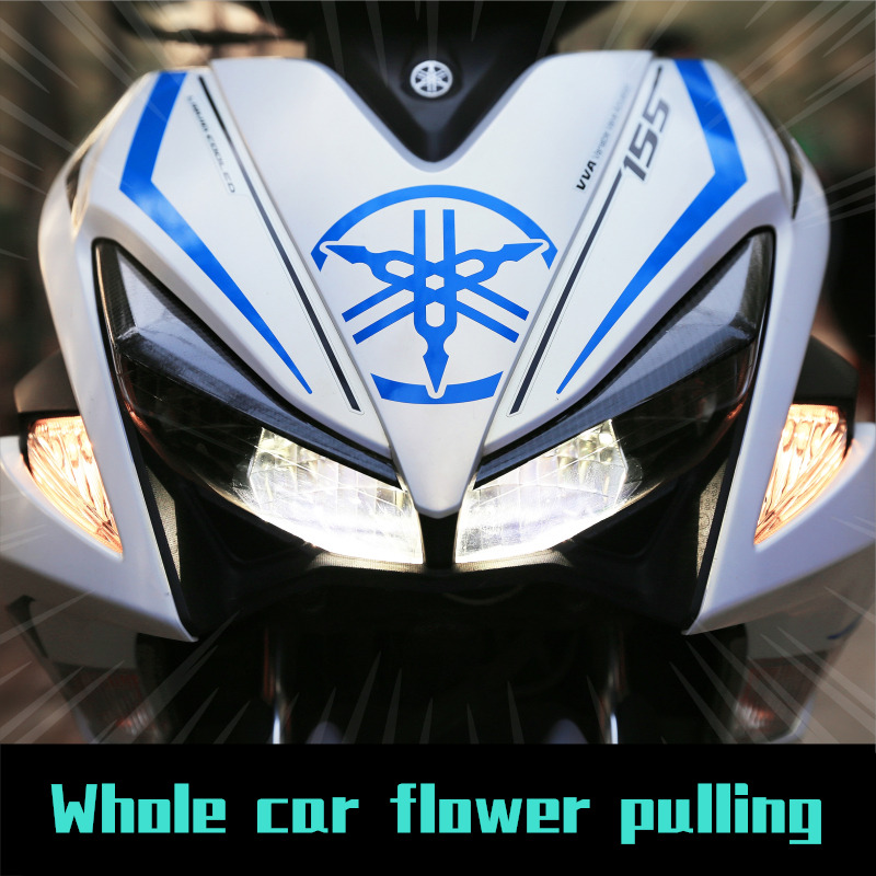 Image 4 - Motorcycle car Whole car flower pulling Body sticker For Yamaha NVX AEROX 155-in Decals & Stickers from Automobiles & Motorcycles
