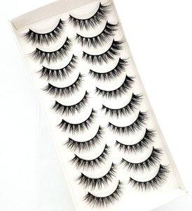 Image 2 - Yeni 5/10 pairs doğal yanlış eyelashes takma kirpik uzun makyaj 3d vizon kirpik uzatma kirpik vizon kirpik güzellik için 54
