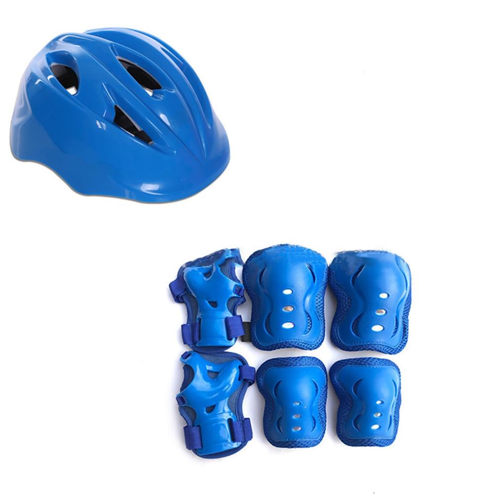 7 шт. подарок практичное детское регулируемое колено защита запястья налокотник велосипедный спортивный шлем Велоспорт ролик детская защита для катания на коньках-in Скейтборд from Спорт и развлечения