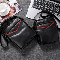 Wmuo Men's Bag Single shoulder Messenger Bag 2019 New Casual All purpose Business Fashion Leather Messenger Men's Small Bag