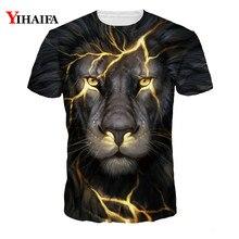 Hipster 3D T Shirt Men Women Lightning Crack Lion Print Casual Tee Shirts Unisex Creative Graphic Tees Hip Hop Tops футболка print bar hipster lion