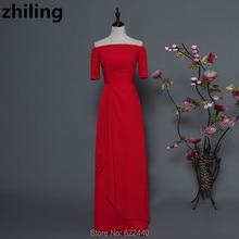 69864a42c1f7 Off Shoulder Half Sleeves Red Bridesmaid Dresses Women Wedding Party Dress  Maid Of Honor Dress Custom