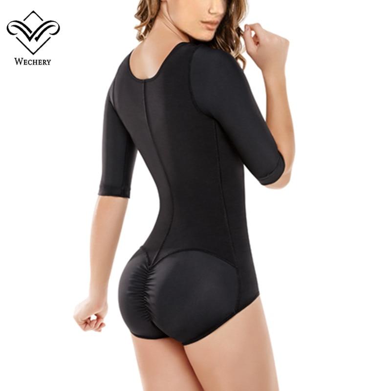 4a64926c3 Wechery Butt Lift Body Shaper Bodysuits Women Hot Sexy Full Body Feminino  Corset Tummy Control Slimming Underwear Bustier Shape -in Bodysuits from  Underwear ...