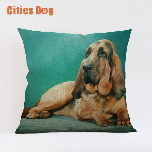Animal Dog Pillowcase Cushion Cover Bloodhound Dogs Throw Pillow Classy Decorative Pillows Dogs