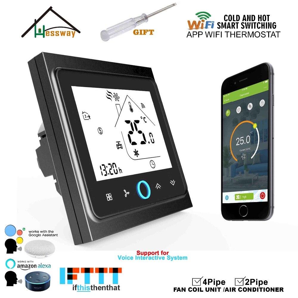 HESSWAY 2 p 4 p de refroidissement/chauffage numérique sans fil wifi thermostat contrôle de la température ambiante pour la climatisation Centrale