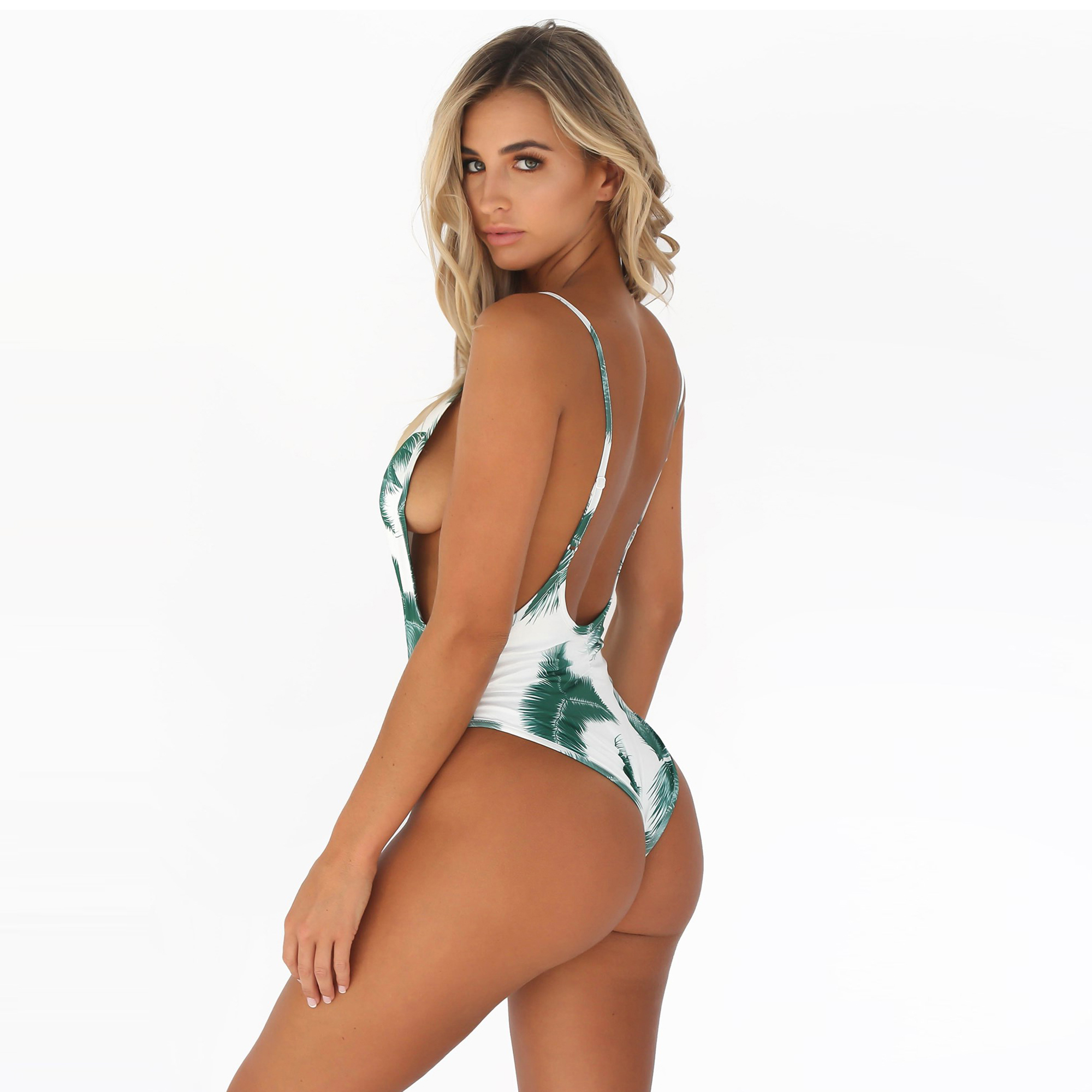 34099819f4fb0 asmax 2017 Summer Sexy Women Bodysuit Tropical Printed Backless Beach  Rompers Slim Soft Wire Free High Waist Bodysuit-in Bodysuits from Women s  Clothing on ...