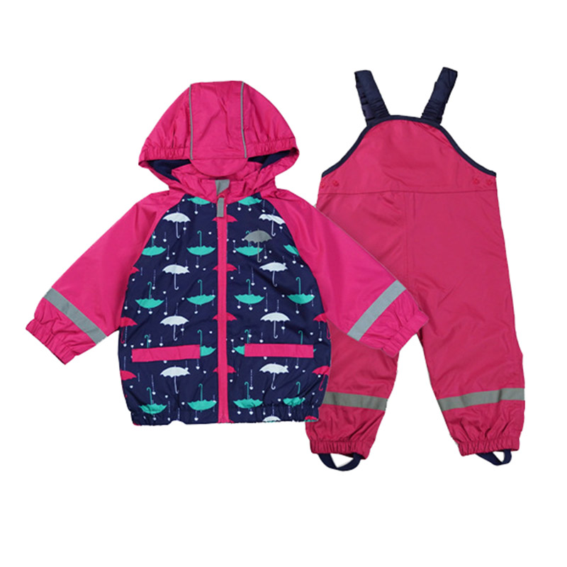 Frank Baby Girls / Toddler Wind Suit Jacket & Pants Windproof/waterproof Suit Kids Jacket Suit+overalls Chills And Pains Windproof Clothing Set