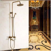 Jiumu Antique Copper Round Shower Suite Boutique Full Copper Hand Blown European National Mail Package Damaged