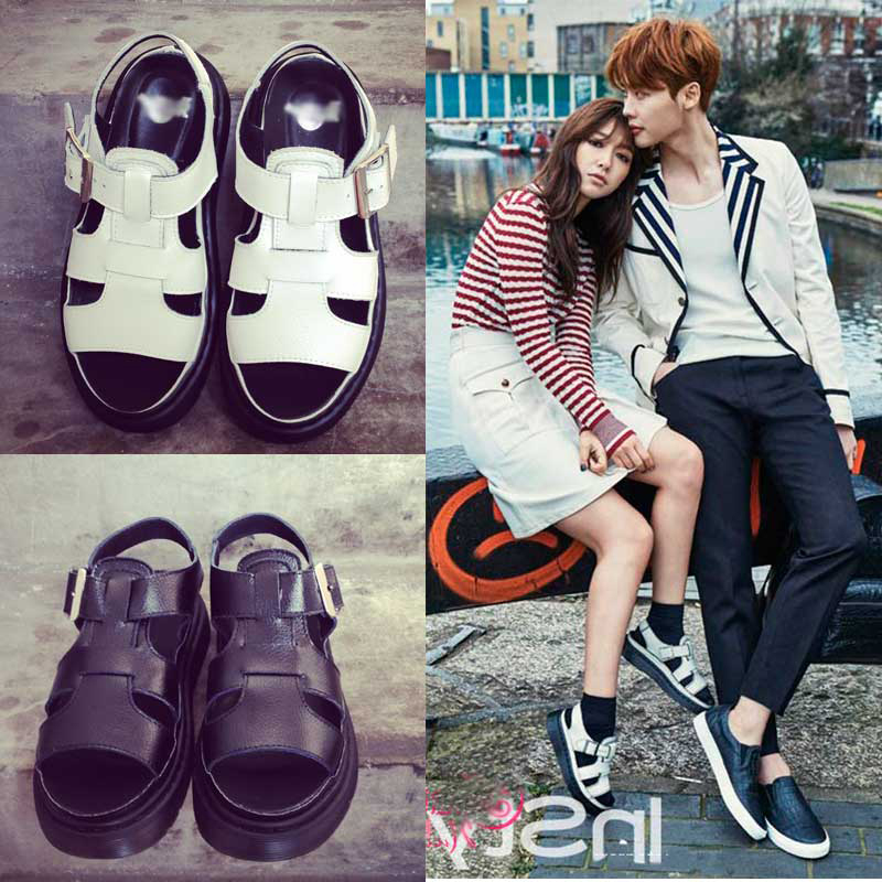 2015 Kpop Star Park Shin Hye Summer Style Fashion Platform Sandals Martin Rome Retro Sandals