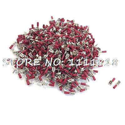 PBDD1-250 Piggy Back Disconnects Insulated Crimp Terminals 1000pcs for AWG 22-16 1000pcs pack e2510 cord end pre insulated terminals wire bootlace ferrules for 14 awg 2 5mm2 10mm pin of length brass tubes
