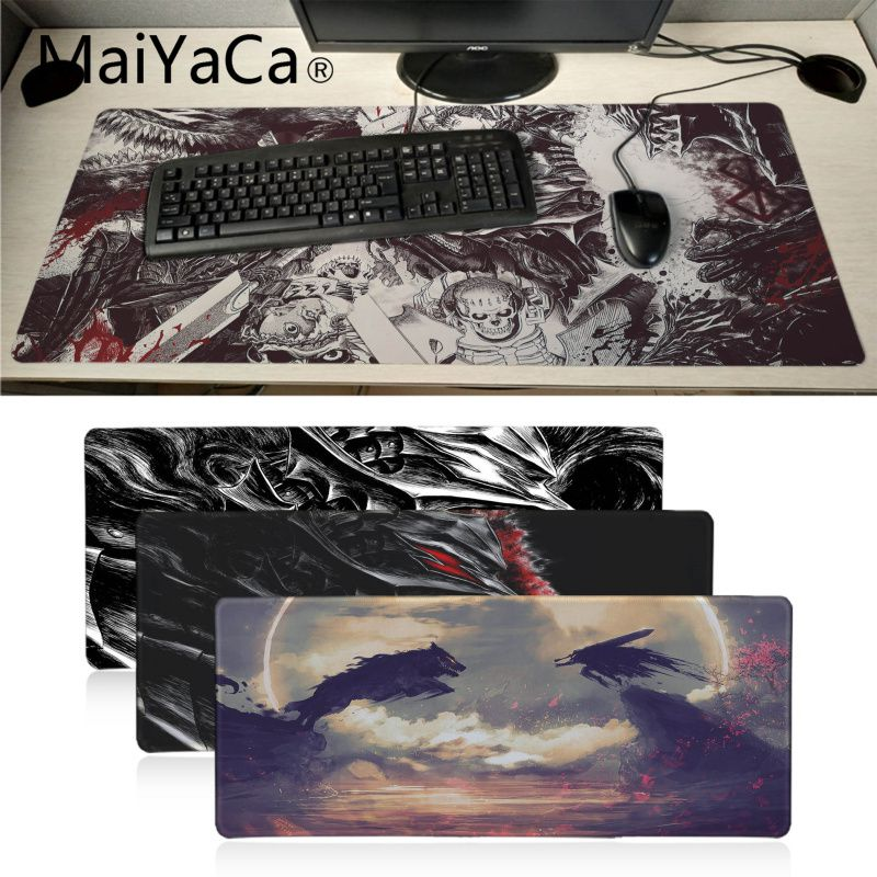 Maiyaca Cool New Berserk Anime  Rubber Mouse Durable Desktop Mousepad Aniem Good Quality Locking Edge Large Gaming Mouse Pad