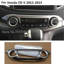 Auto del corpo di stile ABS chrome Interni Aria Condizionata Pulsante presa di Controllo stwich Cornice cornice Per Honda CRV CR-V 2012 2013 2014