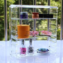 Acrylic Transparency 8 slots Nail Polish rack Spectacle Display Powder Makeup box Cosmetic shelf mac Lipstick Jewelry box(China)