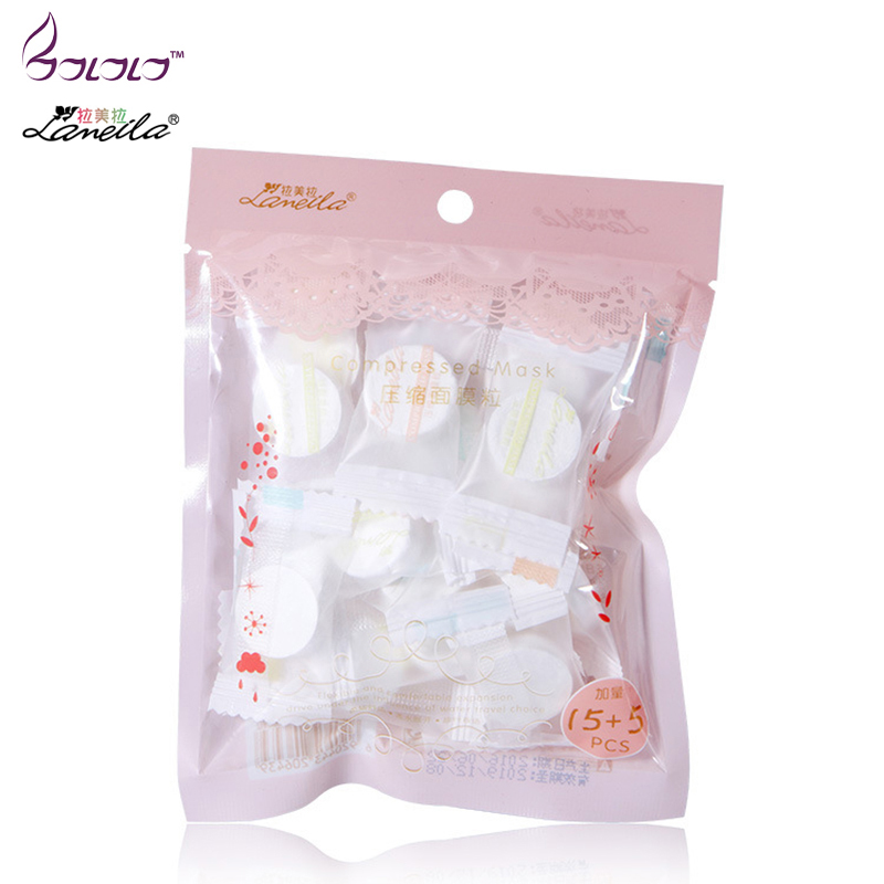 LAMEILA 20 pcs compress facial mask whitening acne tender skin moisturizing paper film cloth DIY mask beauty tools diy paper pulp female doodle mask white 3 pcs