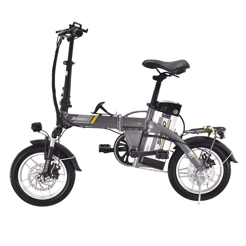 72b323ee5d5 14inch Folding electric bicycle 48V15AH lithium battery mini adult moped men  and women small electric bike