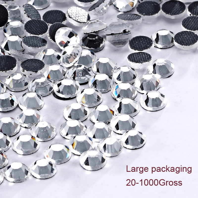 DMC Big Pack Wholesale Crystal Hotfix Rhinestone Roundest Stone DIY Design Garment Flatback ապակի կարի հարսանեկան զգեստ