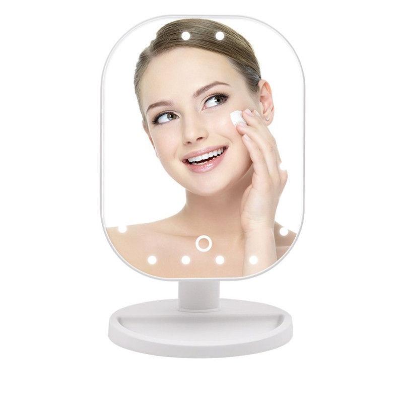 Schminkspiegel Radient Einstellbare 20 Led-leuchten Make-up Spiegel Touchscreen Kosmetische Led Spiegel Platz Eitelkeit Schreibtisch Stehen Spiegel Schönheit Make-up-tool Lassen Sie Unsere Waren In Die Welt Gehen