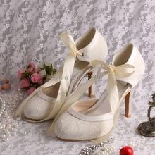 Wedopus Свадебные Туфли Высокий Каблук Ленты Платье Вечернее Чистка Обуви Оптом Китай