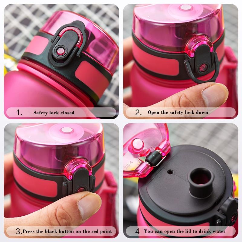 Uzspace Sukan Air Botol Bahan Tritan Drinkware Protein Shaker - Dapur, makan dan bar - Foto 6