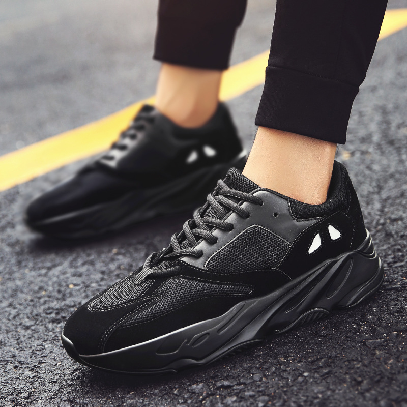 Breathable black dad sneakers Superstar 700 summer mesh Sneakers Light Flats Mens Runawa ...
