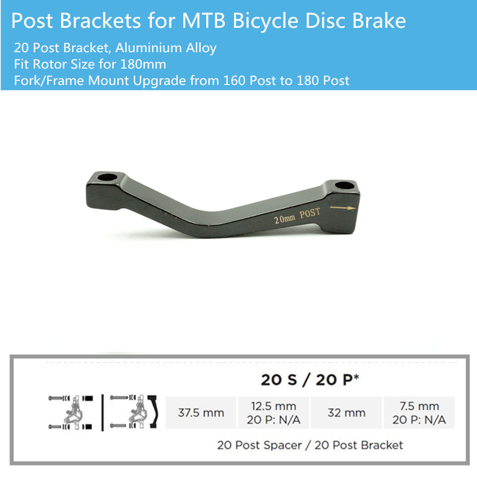 Avid Post to IS Disc Brake Mount Bracket Adapter for 185mm Rotor REAR