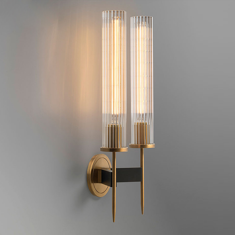 Lights & Lighting Post Modern Gold Wall Lamp Led Mirror Wall Light Glass Lampshade Sconce For Bedroom Kitchen Stair Home Fixtures Industrial Decor